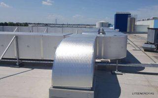Gyorsan és pontosan beszerelhető rendszer- ezt biztosítja az előszigetelt légcsatorna